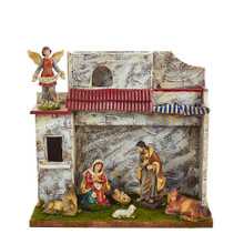 Kurt Adler 7 Piece Musical Nativity with Stable #N0286