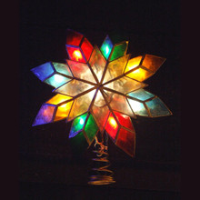 Kurt Adler 10-Light Capiz Star Multicolored Treetop # UL0118/M