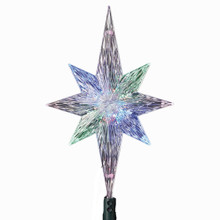 "Kurt Adler 11.25"" LED Light Polar Star Treetop #UL1827"