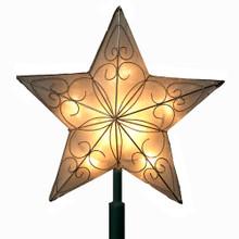 "Kurt Adler 8.5"" Christmas Star Treetop UL1857"