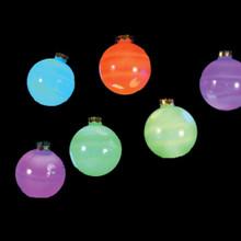 Kurt Adler 6-Light 80mm LED Glass Ball Light Set #UL1911