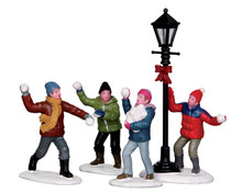 Lemax Snowball Fight, Set of 4 #32133