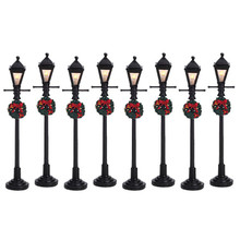 Lemax Village Collection Gas Lantern Street Lamp, set of 8 #64500