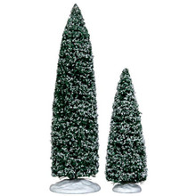 Lemax Village Collection Snowy Juniper Tree , set of 2 #34664