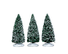 Lemax Snowy Juniper Tree Small, set of 3 #34666