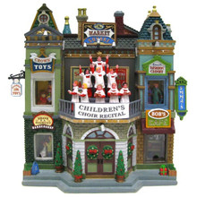 Lemax Village Collection Market Square Christmas Celebration Facade #35560