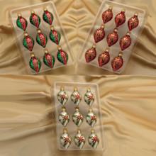Kurt Adler Multicolor Miniature Drop Ornament 9 piece box #GG0322