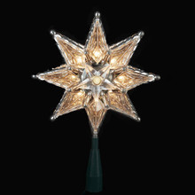 Kurt Adler 10-Light 8-point Clear Star Tree Topper #UL130C