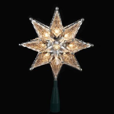 Kurt Adler 10-Light 8-point Clear Star UL130C | Christmas Tree Toppers
