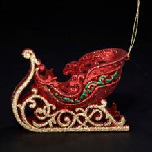 Kurt Adler Red / Green / Gold Sleigh Ornament # D0856