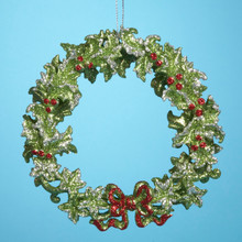 Kurt Adler Green Wreath Ornament #T1043