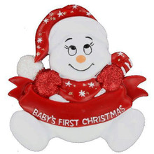 Rudolph & Me Snowbaby's First Christmas Personalized Ornament #122RW