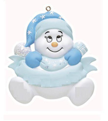 Rudolph & Me Snowbaby's First Christmas Personalized Ornament #122B