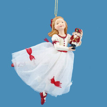 Kurt Adler 5.5in Resin Clara Nutcracker Suite Ornament #W20006