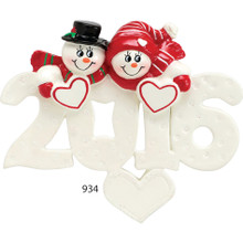 Rudolph & Me 2017 Snow Couple Personalized Ornament #934