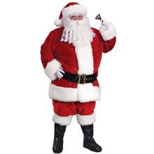XXL Regency Plush Crimson Santa Suit