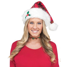 Plaid Santa Helper Hat