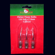 C7 Flicker Flame Replacement Bulbs for UL0702 and UL0740 - 3 pieces #R0073/3