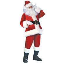Plus Size Velvet Santa Suit Deluxe Velour