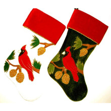 Cardinal Design Stocking , 2 Assorted