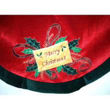 Velvet Merry Christmas Tree Skirt