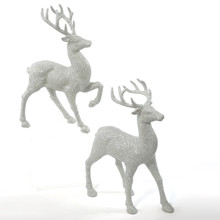 Kurt Adler 13in Champagne Gold Deer Tabletop, 2 Assorted #H0579