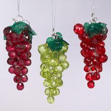 Kurt Adler 4in Beaded Grapes Ornament, 3 Assorted #H9885