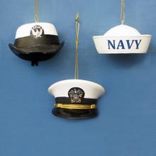 Kurt Adler U.S. Navy Cap Ornament, 3 Assorted #NA2142