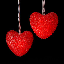 Kurt Adler UL 10-Light Red Heart Light Set #UL0415