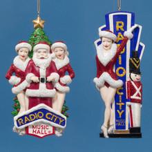 Kurt Adler Rockette & Soldier or Santa & Showgirls Ornaments #RK0001