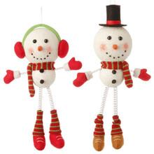 "RAZ 14"" Snowman Ornament, 2 Assorted #3420027"