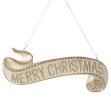 RAZ 15.5in Merry Christmas Banner Ornament #3400799