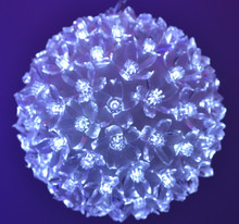 "5.5"" White with White Flash 100Light LED Ball"