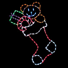 LED Large Stocking with Toys #LED-STL150
