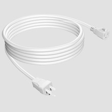 3-Wire Grounded Outdoor Extension Cord White -White