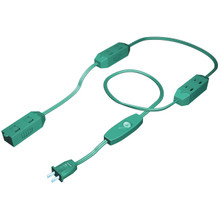 Outlet In-Line Extension Cord -Green