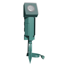 6-Outlet 24hr Mechanical Timer Ground Stake -Green