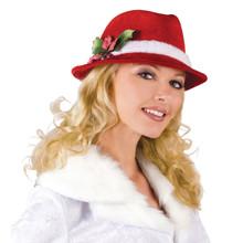 Slick Santa Holiday Fedora Hat