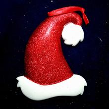 Rudolph & Me Glitter Santa Hat Personalized Ornament #279