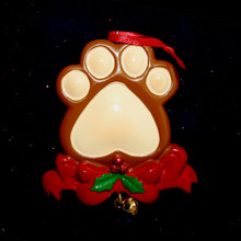 Rudolph & Me Dog Paw Personalized Ornament #286
