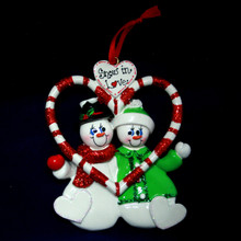 Rudolph & Me Candy Cane Love Personalized Ornament #925