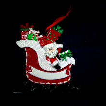 Rudolph & Me Santa's Gift Sleigh Personalized Ornament #949