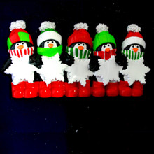 Rudolph and Me Penguin Snowflake Family of 5 Personalized #TT575-5