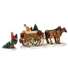 Lemax Village Collection Christmas Tree Wagon, set of 2 #43451