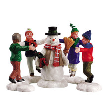 Lemax Village Collection Ring Around the Snowman, Set of 3 #52112