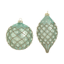 RAZ 4in Antiqued Pearl Ornament, 2 Assorted #3523086