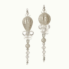 RAZ 6.5in Beaded Drop Ornament, 2 Assorted #3551011