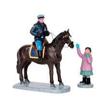 Lemax Village Collection Mounted Policeman, set of 2 #52317