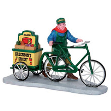 Lemax Village Collection Greenson's Grocery Delivery #52359