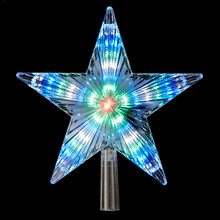Kurt Adler UL 31-Light Color Changing LED Star Treetop #UL0152